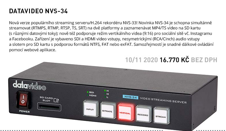 DATAVIDEO NVS-34