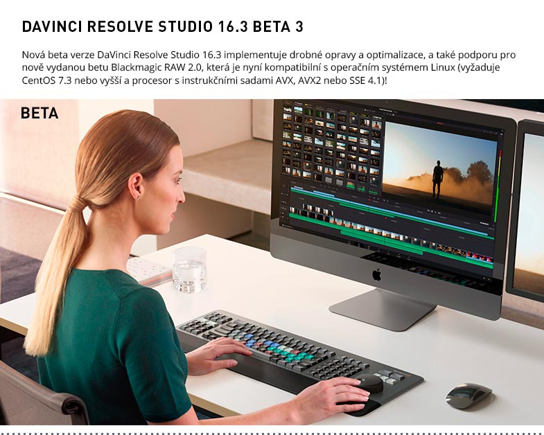 DAVINCI RESOLVE STUDIO 16.3 BETA 3