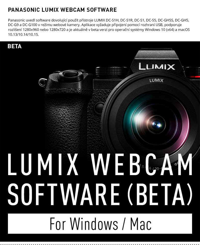 PANASONIC LUMIX WEBCAM BETA