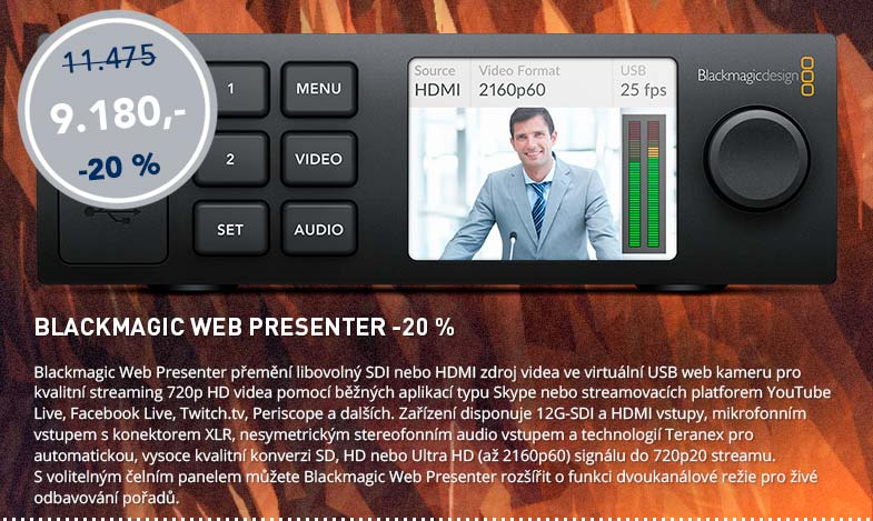 Blackmagic Friday: Web Presenter -20%