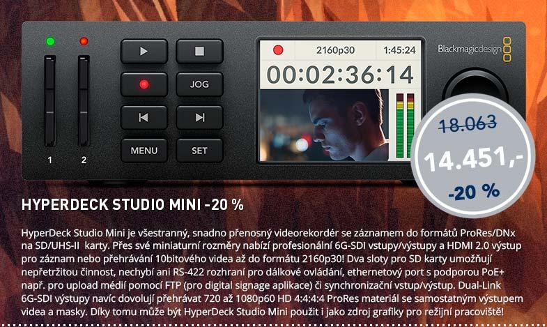 Blackmagic Friday: HyperDeck Studio Mini -20%