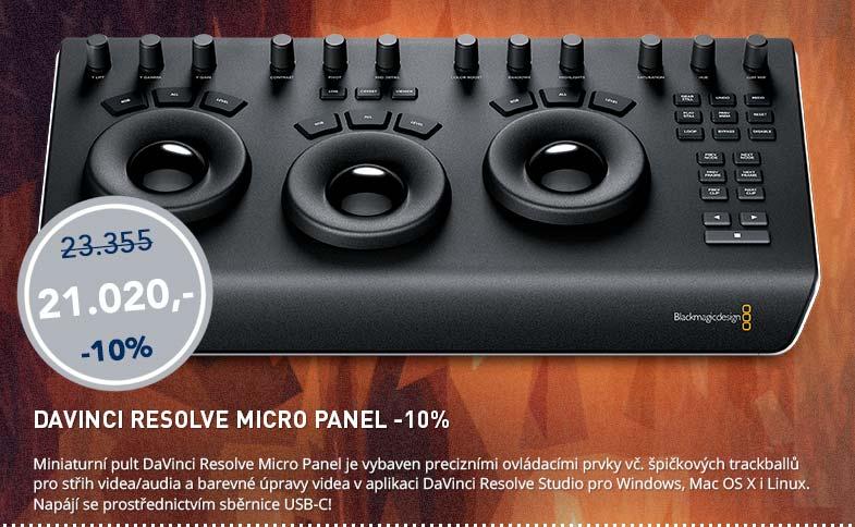 Blackmagic Friday: DaVinci Resolbe Micro Panel -10%