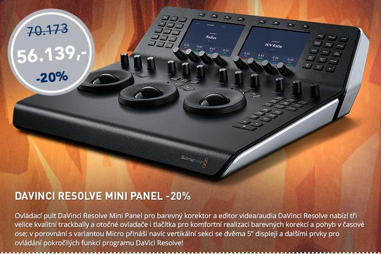Blackmagic Friday: DaVinci Resolbe Mini Panel -20%
