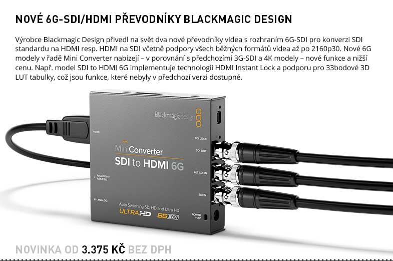 Blackmagic Mini Converter 6G-SDI