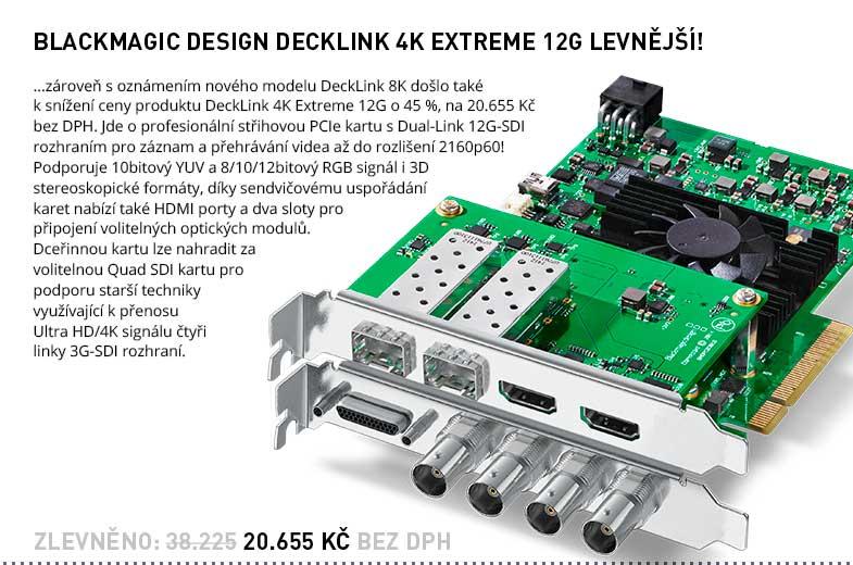 Blackmagic Design DeckLink 4K Extreme 12G sleva