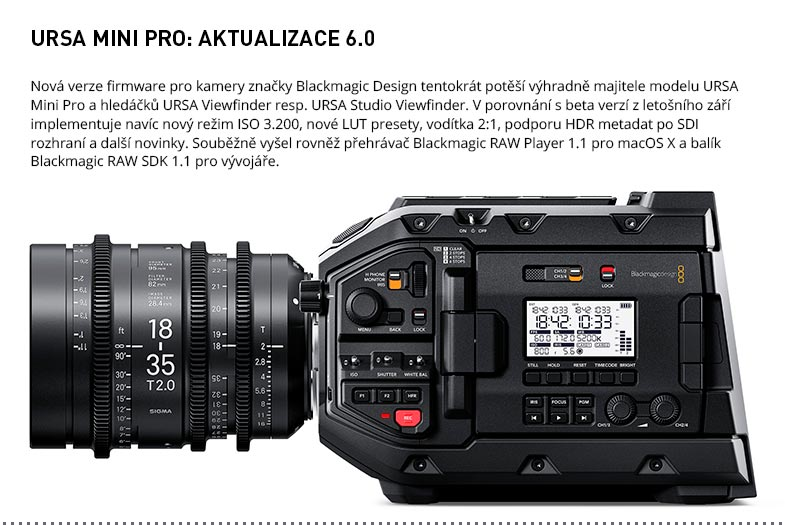 BLACKMAGIC URSA MINI PRO 6.0