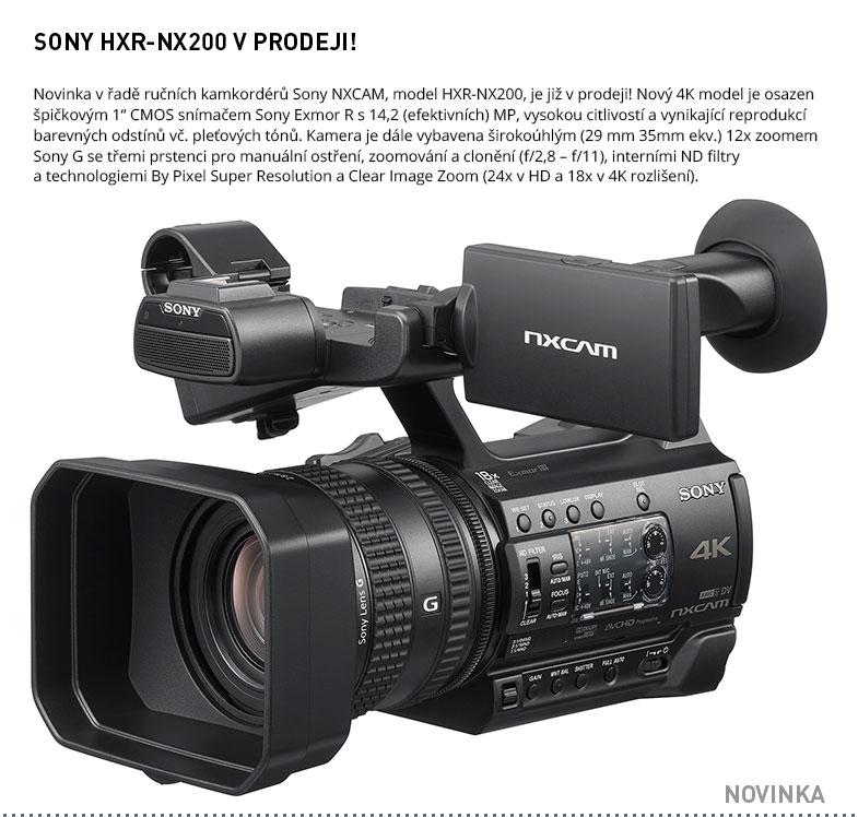 SONY HXR-NX200 V PRODEJI