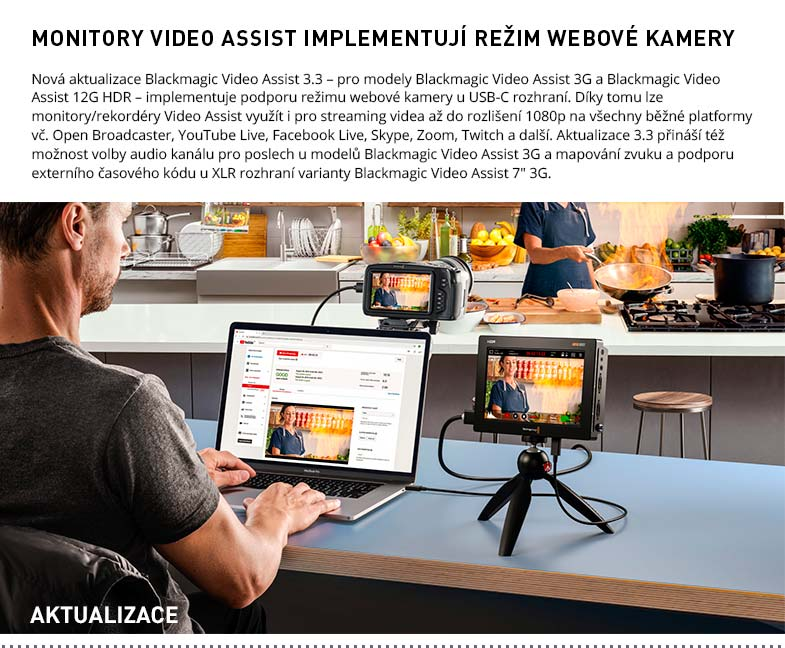 VIDEO ASSIST WEBCAM UPDATE