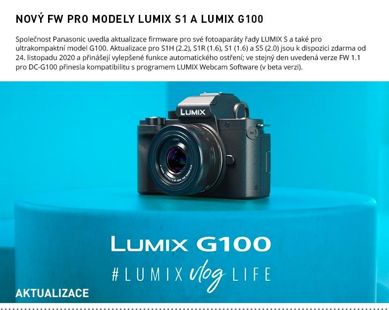 FW PRO MODELY LUMIX S1 A LUMIX G100