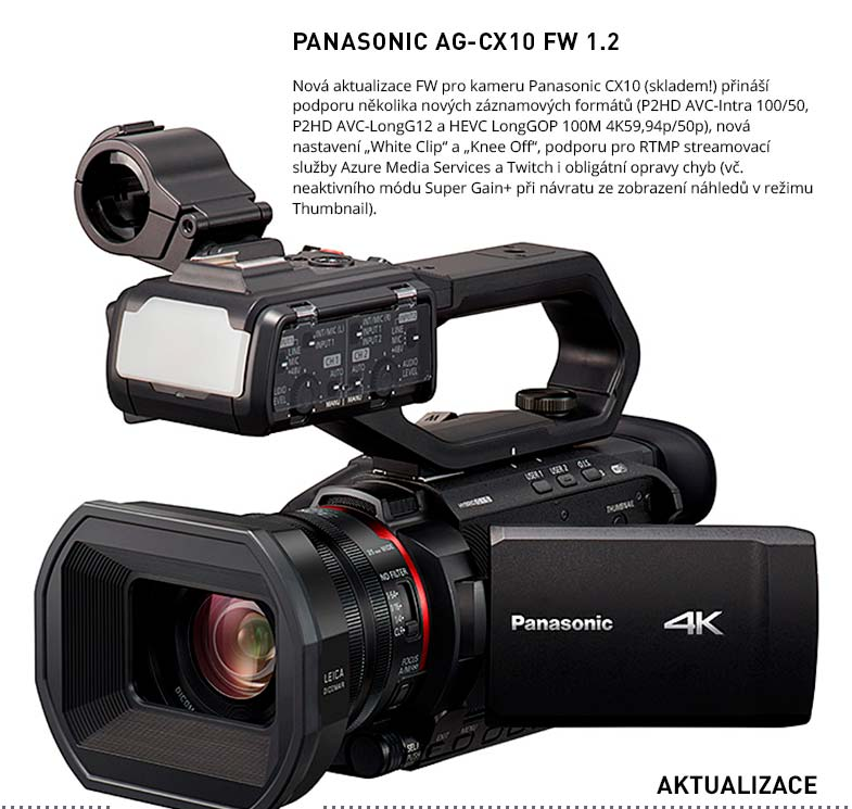 PANASONIC AG-CX10 FW 1.2