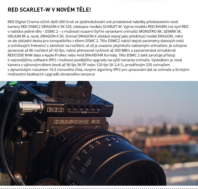RED DSMC2 DRAGON-X 5K S35