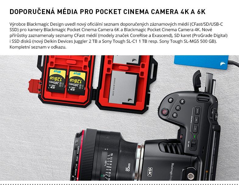 POCKET CINEMA CAMERA 4K A 6K MEDIA